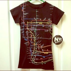 New York City Subway Line Tops - New York City Subway Line T-Shirt, NEW WITH TAGS